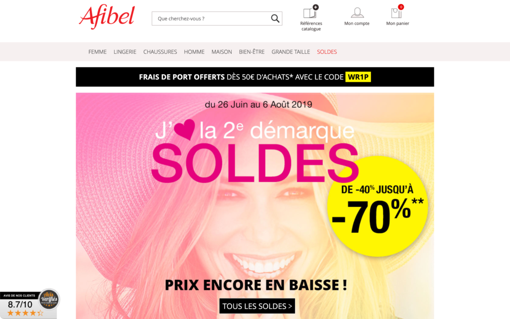 Afibel _ Le catalogue vêtement femme senior