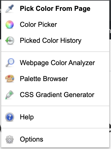 Pick color from page - chrome extension