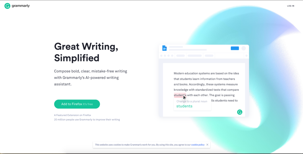 Grammarly - extension google chrome