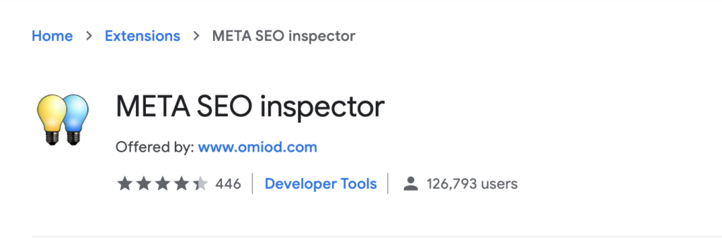 SEO inspector - chrome extension