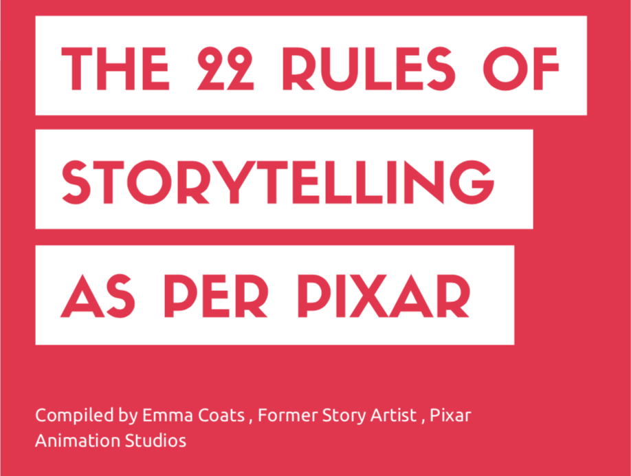 The 22 rules of storytelling as per pixar