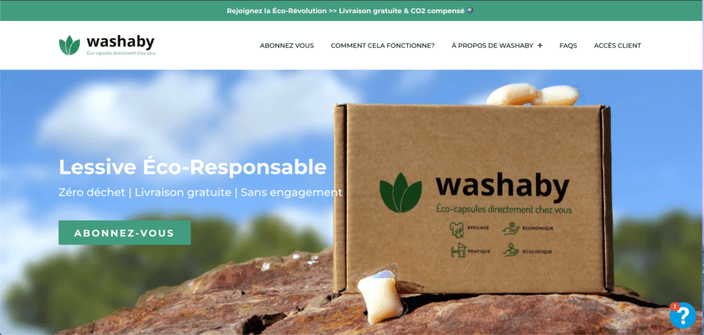 Washaby - website